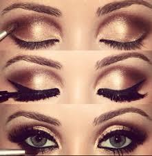 eyes beautiful makeup brown gold eyeshadow