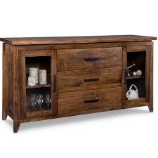 pemberton display sideboard solid wood made in canada handstone rustic modern
