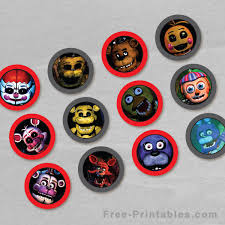 Free Printable Five Nights At Freddys Cupcake Toppers Free