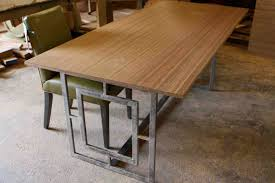 dining table frame steel. home and house photo awesome rectangular dining table with butcherblock top metal legs knockout carlyle wood frame steel .