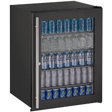 5 3 cu ft ada undercounter refrigerator w lock black cabinet with black glass door