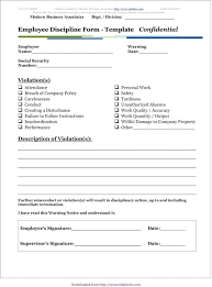 Restaurant Write Up Forms Employee Disciplinary Write Up Template Medium To Large Size Of Form