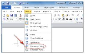 Office Word Format Where Is Document Map In Microsoft Office 2007 2010 2013