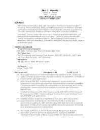 Sql Skills Resumes Sample Resume For Database Developer Baxrayder