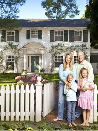 father of the bride house interior. Contemporary Interior Homeowners In Front Of White Colonial House On Father Of The Bride Interior I