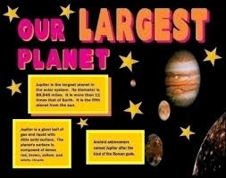 make a science fair project poster ideas jupiter outer space  our largest planet