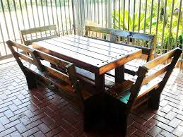 gorgeous wonderful patio furniture diy pallet outdoor rustic diy pallet outdoor dining table pallet patio dining