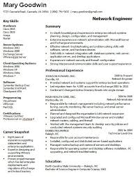 Network Administrator Resume Sample Resume Sample