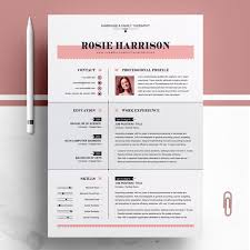 Modern And Creative Professional Resume Clean Cv Design Template Customizable Ms Word Apple Pages Psd File Formats Instant Download