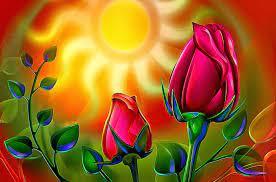 3d Rose Flower Wallpaper - Flower Image ...