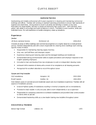 Janitor Resume Magnificent Janitorial Resume Example Kenicandlecomfortzone