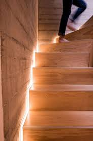 Home Interior:OLYMPUS DIGITAL CAMERA Contemporary Home Design With Wooden  Stair Way Feat Hidden Led