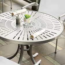 la stratta patterned aluminum tables