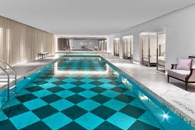Indoor pool Mansion Baccarat Hotel Lamar University Best Hotels With Indoor Pools In Spas Or On Rooftops In Nyc