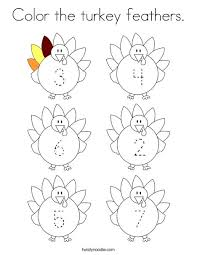 turkey feathers coloring pages.  Turkey Color The Turkey Feathers Coloring Page For Turkey Feathers Pages A