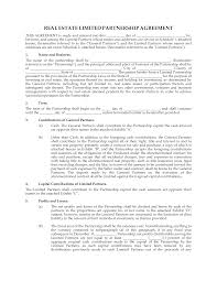 Limited Partnership Agreement Template Free Real Estate Partnership Agreement Templates At