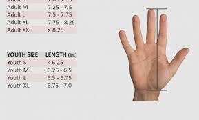Youth Football Glove Size Chart Images Gloves And
