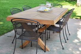 diy outdoor furniture. Deck-To-Dining Room Wooden Table Diy Outdoor Furniture