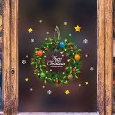 2019 Christmas Wreath Garland Snowman Elk Deer Wall ... - Vova