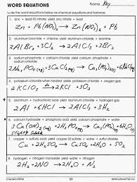 balancing chemical equations word equations worksheet answers best balancing chemical equations word equations worksheet answers best