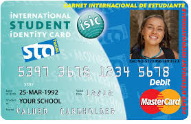 an exle of the isic id card image courtesy of sta travel