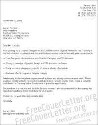 Sample Graphic Design Cover Letter   Examples In Word PdfGraphic     CV Resume Ideas