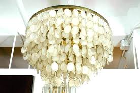 chandelier rectangular shell west elm large pottery barn capiz chandeliers mirror