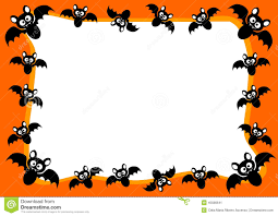 halloween invitations cards halloween invitation card flying bats frame stock