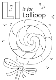Small Picture Letter L is for Lollipop coloring page Free Printable Coloring Pages