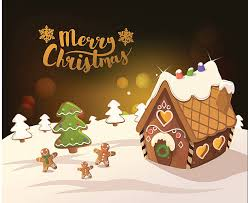 gingerbread house clipart background. Wonderful Clipart Cristmas Background With Gingerbread Houses Vector Art Illustration For Gingerbread House Clipart N