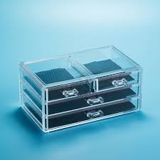 makeup organizer cosmetics rangement maquillage clear acrylic 3 drawers display box storage bo bins in storage bo bins from home garden on