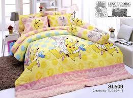stylish pikachu bedding set for girls walyou pokemon bed set decor