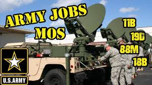 Army Mos Chart Us Army Mos Army Jobs