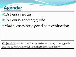objective students will analyze the sat essay scoring guide and  4 agenda sat essay
