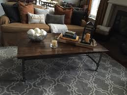 has iron legs so i wanted my coffee table to be somewhat like that in the end this is what i came up with my coffee table and i absolutely love it