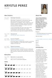paralegal assistant resume samples work history paralegal resume examples