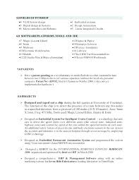 Technical Resume Format For Freshers Resume Format Embedded Engineer