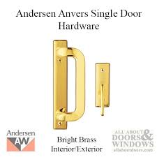 andersen frenchwood gliding door trim hardware anvers 2 panel interior and exterior bright brass
