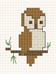 Free Cross Stitch Charts For Beginners Mini Owl Cross Stitch Cross Stitch Patterns Cross
