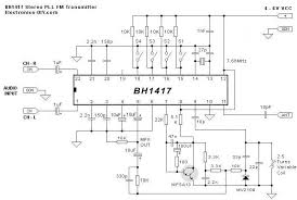bh1417 stereo pll fm transmitter circuit Wiring Schematic Diagram 200m Fm Transmitter Simple Circuit bh1417 pll stereo transmitter circuit schematic