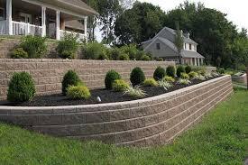 retaining wall tackles sloping front yard
