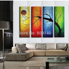 framed stretched abstract landscape oil painting canva handmade modern home office hotel wall art decor decoration free ship new in painting calligraphy  on modern framed wall pictures with framed stretched abstract landscape oil painting canva handmade