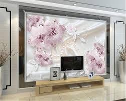 Beibehang Luxe Diamant Bloemen 3d Sieraden Tv Achtergrond