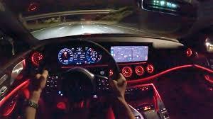 Driving dynamics at motorsport level, explosive sprints, maximum comfort. 2020 Amg Gt 63 S Pov Night Drive Youtube