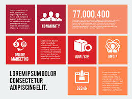 Online Marketing Presentation In Flat Design For Powerpoint