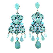chandelier turquoise earrings blue crystal chandelier earrings designs turquoise chandelier earrings fashion