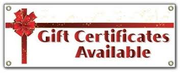 Gift Certificate Sign Gift Certificates Retail Outdoor Vinyl Banner Sign Amazon Co Uk