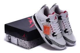 jordan shoes retro 4. air jordan 4 retro white cement black red new arrival shoes