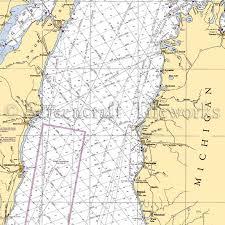 Lake Michigan Nautical Chart Michigan Mid Lake Michigan Nautical Chart Decor