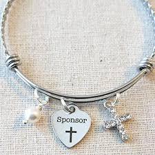 confirmation sponsor thank you gift catholic confirmation sponsor bracelet confirmation sponsor gift catholic
